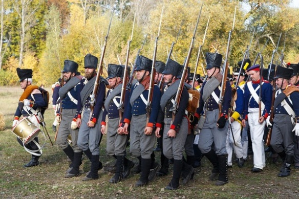 Prussian Line troops in campaign dress. 1813-1815. From Leipzig.