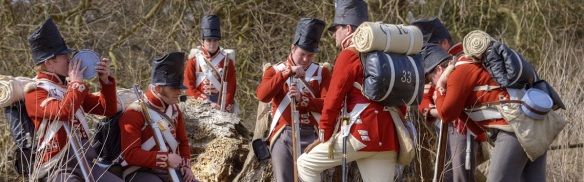 British 1815 campaign equipment, excellently portrayed by the 33rd foot.