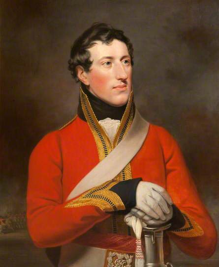 Captain Henry Gee Boulders Barnard. Though he did not serve at Waterloo, like his brother (of whom we shall hear later) this portrait, painted in 1814, shows the expensive number 1 full dress uniform officers were expected to wear.
