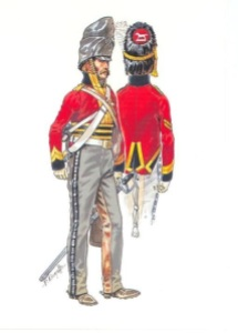 Private Dragoon and Sergeant of the RNDB, 1815. Patrice Courcelle.