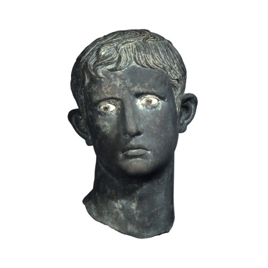 Monumental Head of Augustus. Carried away by Kushite Raiders and buried beneath an altar at Meroe.