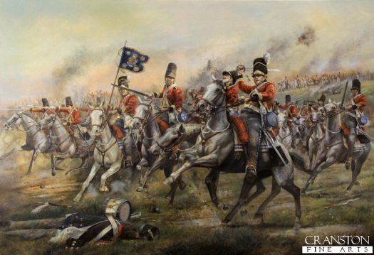 Charge of the Grey's. Chris Collingwood. Colours were not carried into battle by the British cavalry.