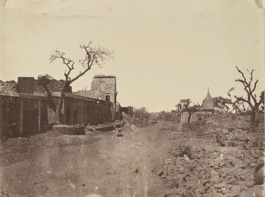 Ruins of Subzi Mandi, 1858.