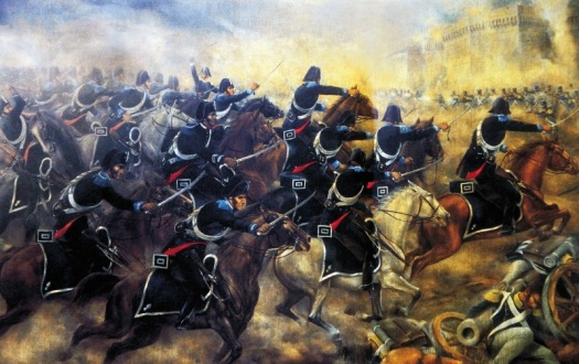 Charge of the Carabinieri at Grenoble.