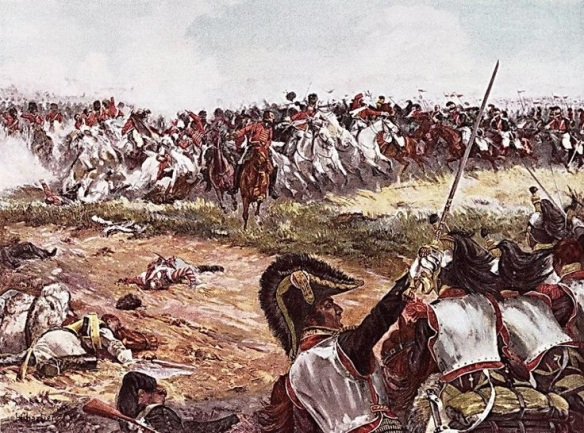 The Brigades of Travers and Farine, and Jacquinot's Light cavalry division counterattack the union brigade.
