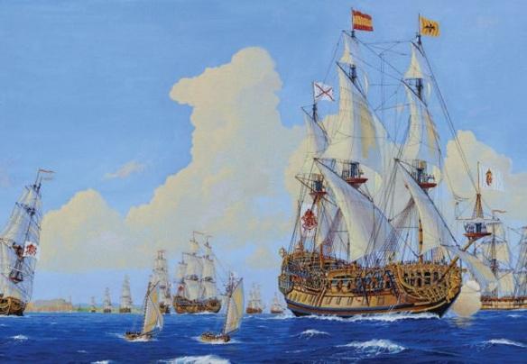 The Spanish Treasure Fleet leaves Havana. By James A. Flood.