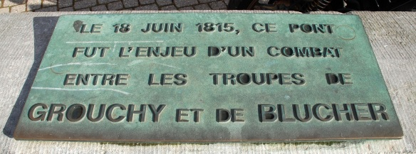 Plaque commemorating the battle at the Pont du Christ.