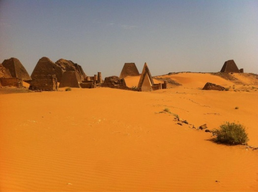 Royal Cemetary at Meroe. Sophie Hay.