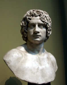 A bust of a young man purported to be Arminius.