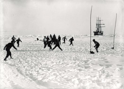 Football on ice.