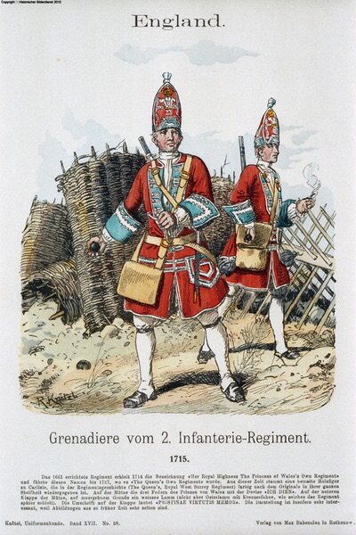 British Grenadiers c1700-1720. By Knotel.