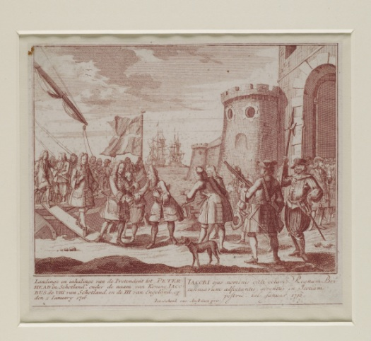 The arrival of King James in Scotland.