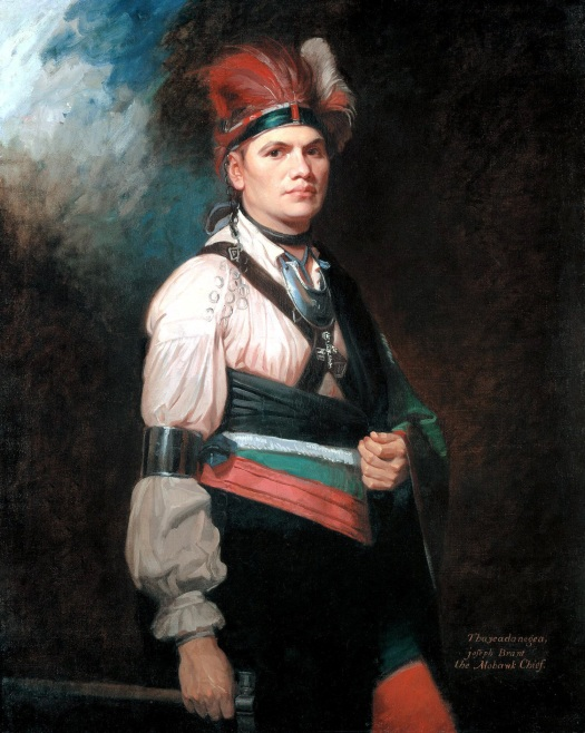 Joseph Brant, also known as Thayendanegea, painted by Romney in 1776.