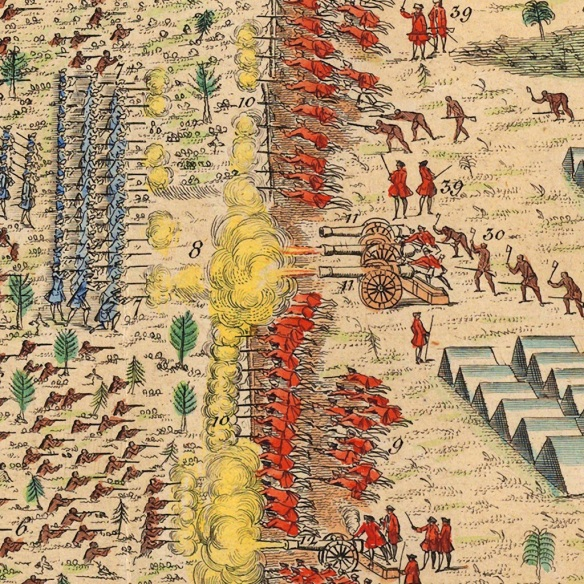 Contemporary depiction of the Battle of Lake George.