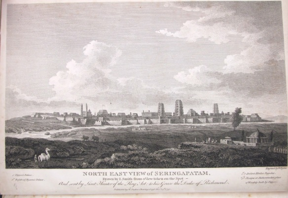 The City of Seringapatam as seen from the Western reaches of the Cauvery in 1792.