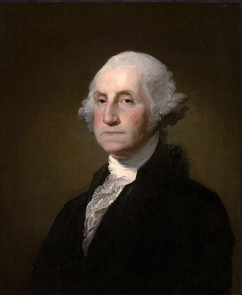 Washington in 1797 by Gilbert Stuart.