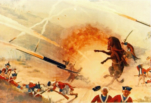 A rather over dramatised depiction of the attack on Sultanpettah.