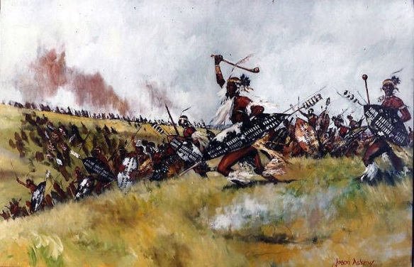 Zulu amabutho charge by Jason Askew.