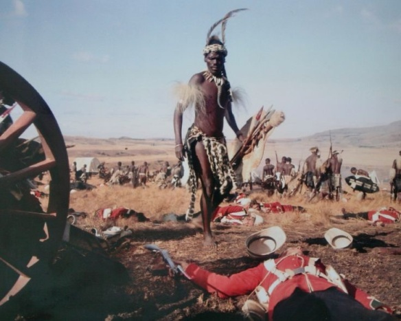 The famous opening scene from Zulu, showing the aftermath of iSandlwana.