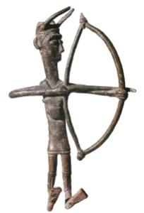 Figurine of a Nuragic archer. Wikipedia.