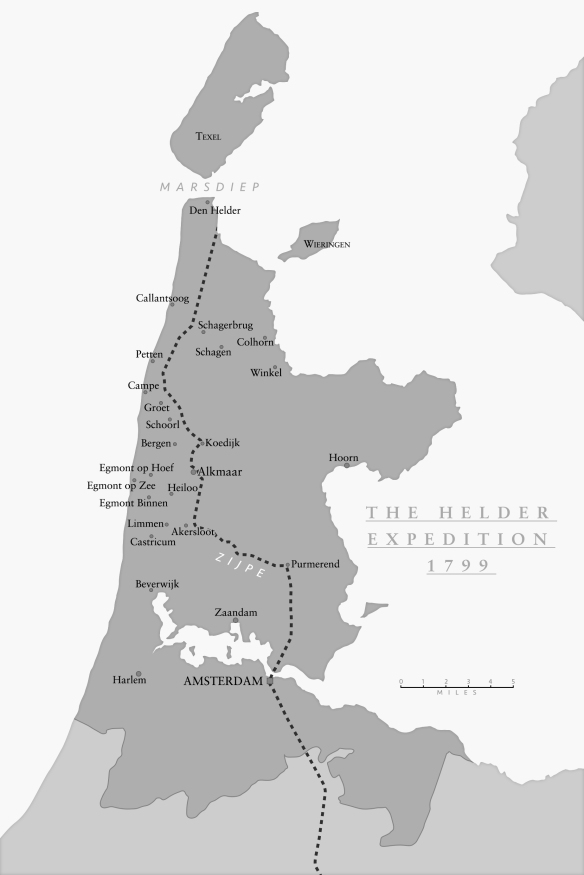 Map of the Helder Campaign, 1799, © Pen and Sword Books, 2017